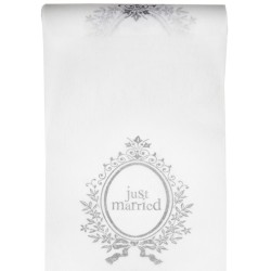 nappage : chemin de table just-married 30 cm x 5m